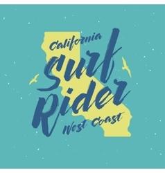 Surf rider lettering poster vintage vector