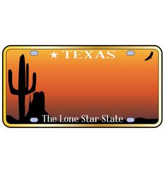 Texas license plate vector