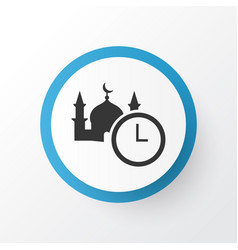 Time icon symbol premium quality isolated namaz vector
