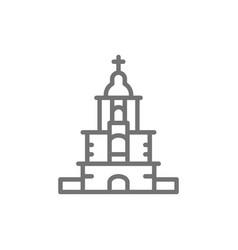 ukrainian orthodox church sanctuary line icon vector image