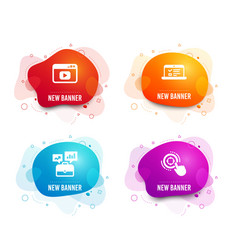 Video content web lectures and business portfolio vector