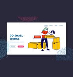 volunteering and charity website landing page vector image
