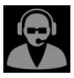 white halftone support operator icon vector image