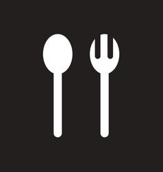 White icon on black background ramadan vector