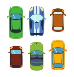 Car vehicle top view vector image vector image