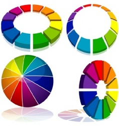 colored geometry vector image vector image