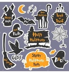Set of black labels badges and lettering for a vector image