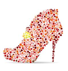 shoes mosaic vector image