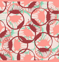 colorful inked splashes seamless texture fashion vector image vector image
