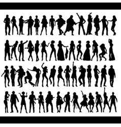 Dance and Sing people vector image vector image