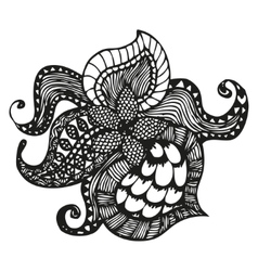 Fantasy pattern in tattoo style vector image
