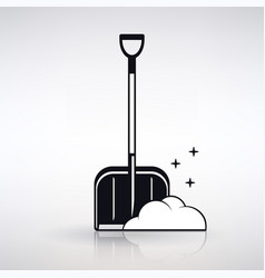 icon shovel for snow cleaning vector image