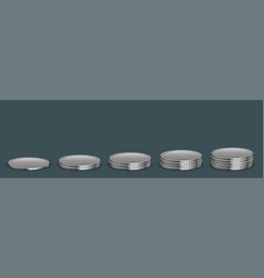Modern money coins icon on sample vector