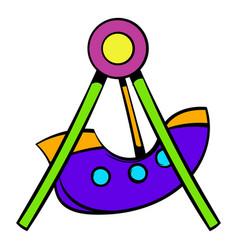 swing icon icon cartoon vector image vector image