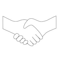 Handshake between two people entering into vector