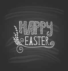 Happy Easter lettering on dark background vector image vector image