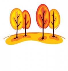trees in autumn vector image vector image