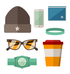 urban active lifestyle accessories vector image vector image