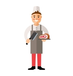 Butcher Flat style colorful Cartoon vector image vector image