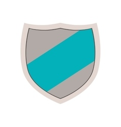 Emblem with blue line in center vector