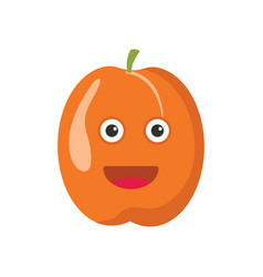 funny apricot icon cartoon style vector image