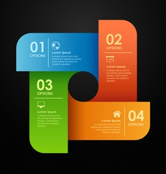 Modern business options banner vector image