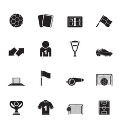Silhouette football and sport icons vector image