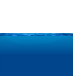 Underwater and Water Surface vector image vector image