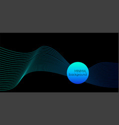 abstract creative minimal background with vector image