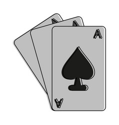 ace of spades cards icon image vector image