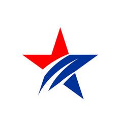 american star logo template vector image