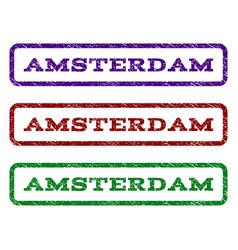 Amsterdam watermark stamp vector