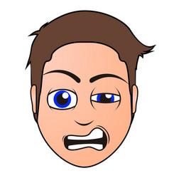 angry man avatar vector image