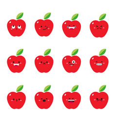 apple modern flat emoticon set vector image