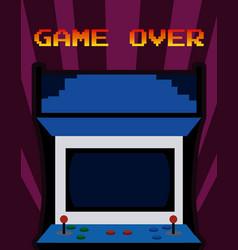 arcade vintage videgame vector image