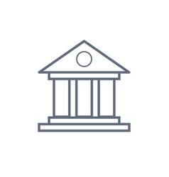 bank building icon line icons on white vector image