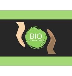 Bio technologies vector image
