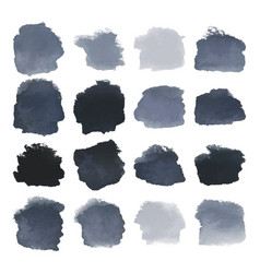 Black blots watercolor set vector