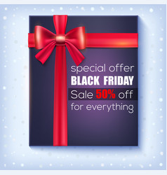 black friday sale special offer 50 percent off vector image