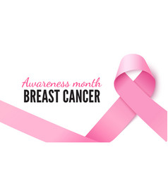 Breast cancer awareness month banner vector
