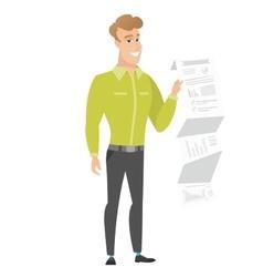 Businessman giving business presentation vector