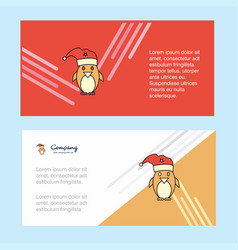 christmas penguin abstract corporate business vector image