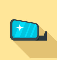 clean car mirror icon flat style vector image