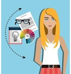 Creative ideas graphic designer vector image