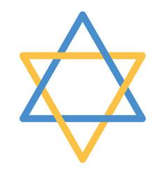 david star emblem vector image