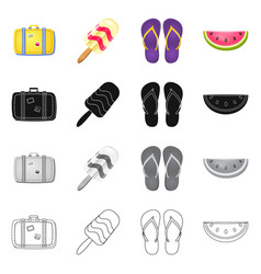 design of equipment and swimming logo vector image