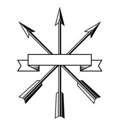 Design with arrows arrows an archer a bunch vector