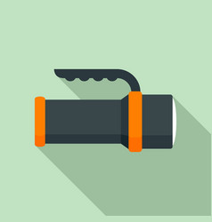 Diving light icon flat style vector