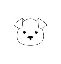 Dog drawing face vector
