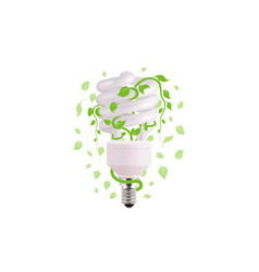 ecological lightbulb icon in format eco vector image